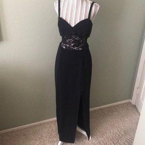 1 hr SALE - Susan Roselli black gown